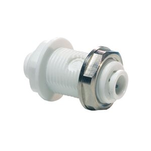 "1/4"" JG Speedfit Bulkhead Union-White"