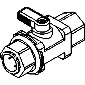 "Ball Valve-3/8"" Mur-lok x 1/4"" Female NPTF (5/Bag)"