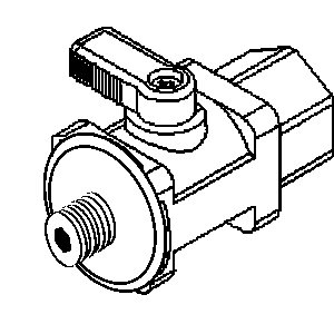 "Ball Valve-3/8"" Mur-lok x 1/4"" Male NPTF (5/Bag)"