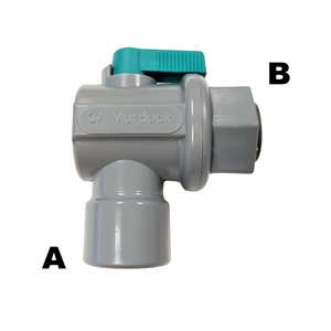 "90 Ball Valve-1/4"" Female NPTF x 1/4"" Mur-lok (5/Bag)"
